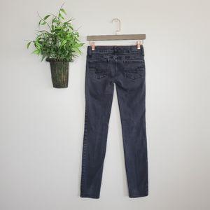 American Eagle Super Stretch Black Skinny Jeans 0